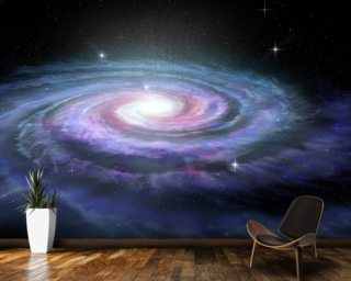 Spiral Galaxy Milky Way mural wallpaper