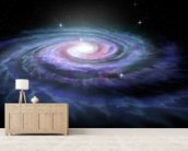 Spiral Galaxy Milky Way mural wallpaper living room preview