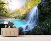 Beautiful Waterfall wall mural living room preview