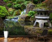 Japanese Garden Rock Lantern mural wallpaper kitchen preview