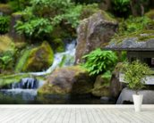 Japanese Garden Rock Lantern mural wallpaper in-room view