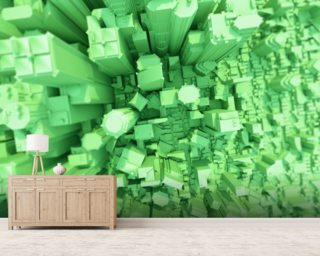 Green City Concept 3D wall mural