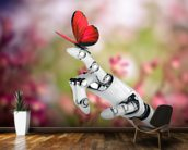 Robot hand and butterfly wallpaper mural kitchen preview