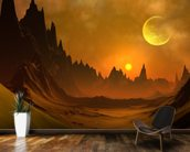 Fantasy Alien Planet mural wallpaper kitchen preview