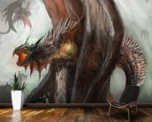 Dragons mural wallpaper kitchen preview