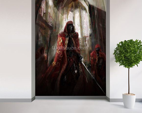 Priest Warriors wallpaper mural room setting