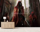 Priest Warriors wallpaper mural living room preview