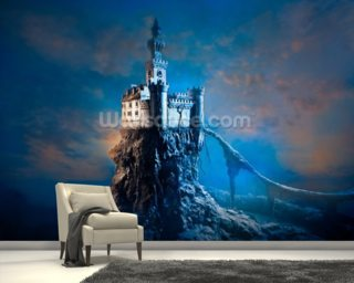 Mysterious Castle mural wallpaper