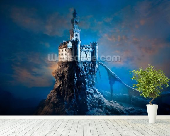 Mysterious Castle mural wallpaper room setting