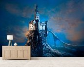 Mysterious Castle mural wallpaper living room preview