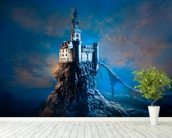 Mysterious Castle mural wallpaper in-room view