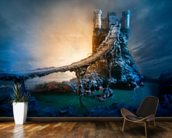 Mysterious Castle and Bridge wall mural kitchen preview