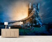 Mysterious Castle and Bridge wall mural living room preview