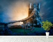Mysterious Castle and Bridge wall mural in-room view