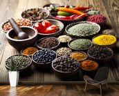 Spices in Bowls wall mural kitchen preview