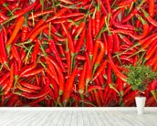 Hot Chilli Peppers wall mural in-room view