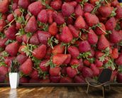 Strawberries wall mural kitchen preview