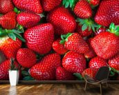 Strawberries Fresh wallpaper mural kitchen preview