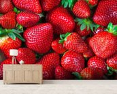 Strawberries Fresh wallpaper mural living room preview