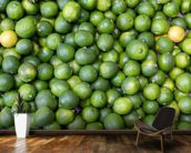 Green Limes mural wallpaper kitchen preview