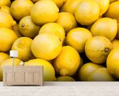 Lemons wall mural living room preview