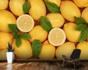Zesty Lemons wallpaper mural kitchen preview