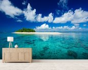 Vacation Paradise wallpaper mural living room preview