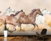 Galloping Herd of Horses wall mural kitchen preview