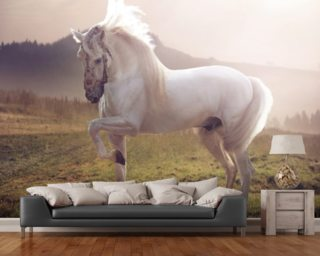Fairytale White Horse wall mural