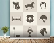 Horse Riding mural wallpaper in-room view