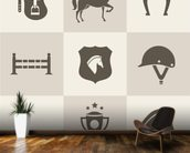 Horse Riding mural wallpaper kitchen preview