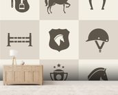 Horse Riding mural wallpaper living room preview
