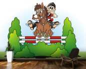 Show Jumping Cartoon wall mural kitchen preview
