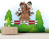 Show Jumping Cartoon wall mural living room preview