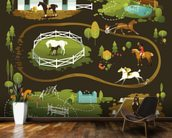 Equestrian World wall mural kitchen preview
