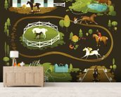 Equestrian World wall mural living room preview