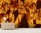 I Heard Love is Blind Orange wall mural living room preview