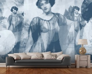 I Heard Love is Blind Gray wallpaper mural