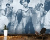 I Heard Love is Blind Gray wallpaper mural kitchen preview