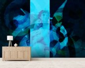 Avientame - Blue wall mural living room preview