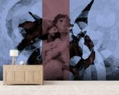 Aveintame - Blue Rose mural wallpaper living room preview
