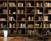 Natural Bookcase Wallpaper Mural wallpaper mural kitchen preview