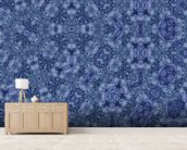 Center Of Mobius Blue mural wallpaper living room preview