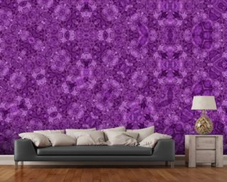 Center Of Mobius Purple wall mural