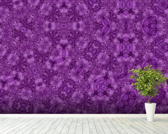 Center Of Mobius Purple wall mural room setting