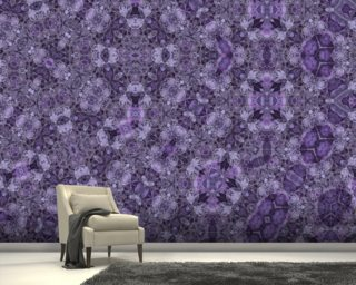 Center Of Mobius Mauve wallpaper mural
