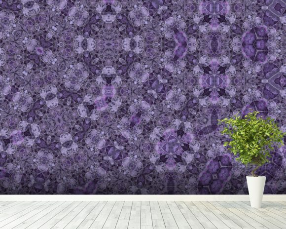 Center Of Mobius Mauve wallpaper mural room setting