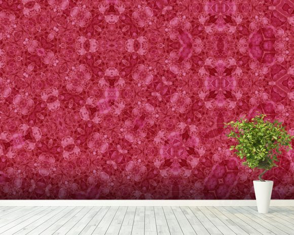 Center Of Mobius Red mural wallpaper room setting