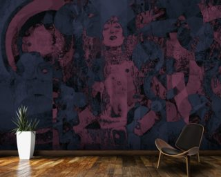 Crazy - Purple wall mural