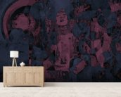 Crazy - Purple wall mural living room preview